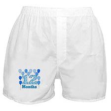 12 Months - Baby Milestones Boxer Shorts