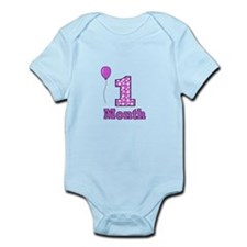 1 Month - Purple Polka Dot Body Suit