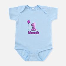 1 Month - Purple Polka Dot Body Suit