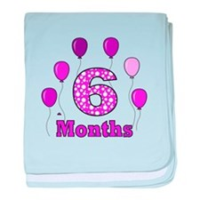 6 Months - Purple Polka Dot baby blanket