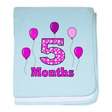 5 Months - Purple Polka Dot baby blanket