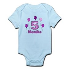 5 Months - Purple Polka Dot Body Suit