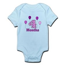 4 Months - Purple Polka Dot Body Suit