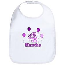 4 Months - Purple Polka Dot Bib