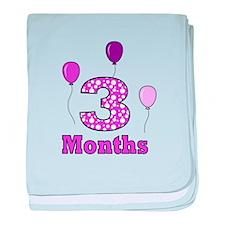 3 Months - Purple Polka Dot baby blanket