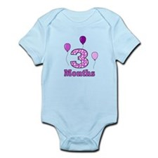 3 Months - Purple Polka Dot Body Suit