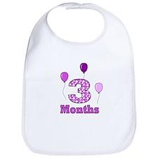 3 Months - Purple Polka Dot Bib