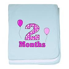 2 Months - Purple Polka Dot baby blanket