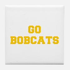 Bobcats-Fre yellow gold Tile Coaster