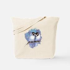Cute Watercolor Lovebird Bird Nature Art Tote Bag