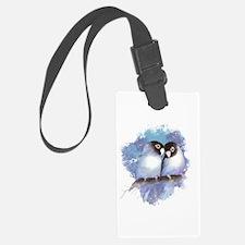 Cute Watercolor Lovebird Bird Luggage Tag