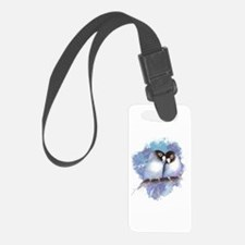 Cute Watercolor Lovebird Bird Luggage Tag