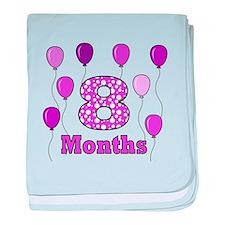 8 Months - Purple Polka Dot baby blanket