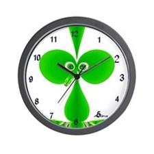 Cute Green Kids Design Wall Clock