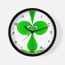 Cute Green Kids Design Wall Clock