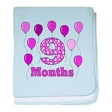 9 Months - Purple Polka Dot baby blanket