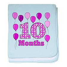 10 Months - Purple Polka Dot baby blanket