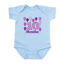 10 Months - Purple Polka Dot Body Suit