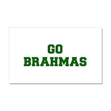 Brahmas-Fre dgreen Car Magnet 20 x 12