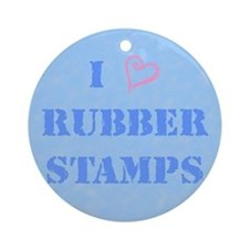 I (heart) Rubber Stamps Ornament (Round)