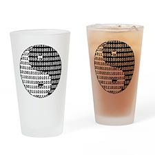 Digital Zen Drinking Glass