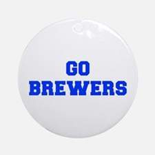 brewers-Fre blue Ornament (Round)