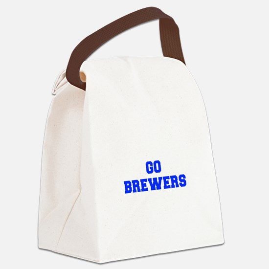 brewers-Fre blue Canvas Lunch Bag