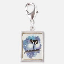 Cute Watercolor Lovebird Bird Nature Art Charms