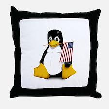 Funny Ubuntu Throw Pillow