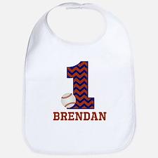 First Birthday Baseball Bib