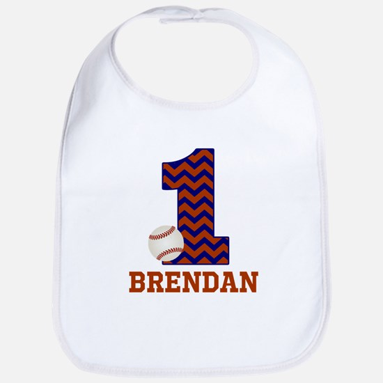 First Birthday Baseball Bib
