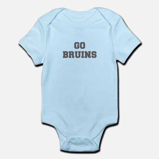 BRUINS-Fre gray Body Suit