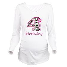 4th Birthday Long Sleeve Maternity T-Shirt
