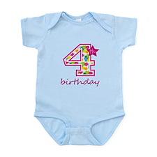 4th Birthday Body Suit