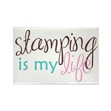 Stamping is My Life Rectangle Magnet