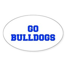 Bulldogs-Fre blue Decal