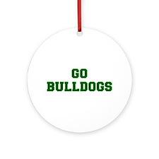 Bulldogs-Fre dgreen Ornament (Round)