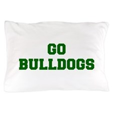 Bulldogs-Fre dgreen Pillow Case