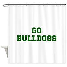 Bulldogs-Fre dgreen Shower Curtain