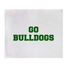 Bulldogs-Fre dgreen Throw Blanket