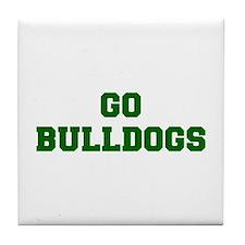 Bulldogs-Fre dgreen Tile Coaster
