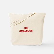 BULLDOGS-Fre red Tote Bag