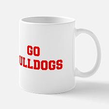 BULLDOGS-Fre red Mugs