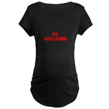 BULLDOGS-Fre red Maternity T-Shirt