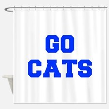 cats-Fre blue Shower Curtain