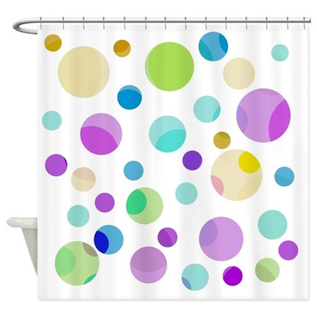 Colorful Blue Pink Yellow Green Shower Curtain By
