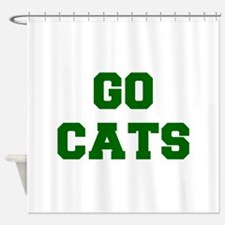 CATS-Fre gray Shower Curtain