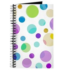 colorful blue, pink, yellow, green, purple Journal