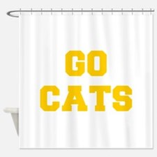 cats-Fre yellow gold Shower Curtain