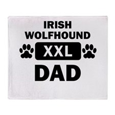Irish Wolfhound Dad Throw Blanket